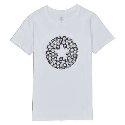 Converse Womens Chuck Patch Daisy Infill Classic Tee